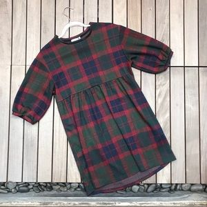 ZARA TRF Collection Navy, Green & Red Long Sleeve